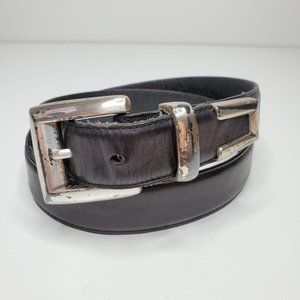 Wilsons Leather Distressed Belt Black Silver L